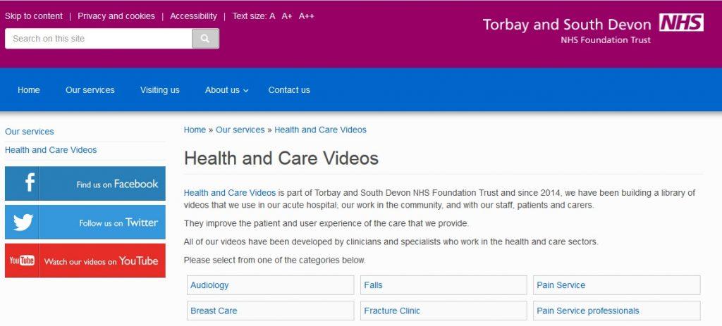 TSDHCT webpage