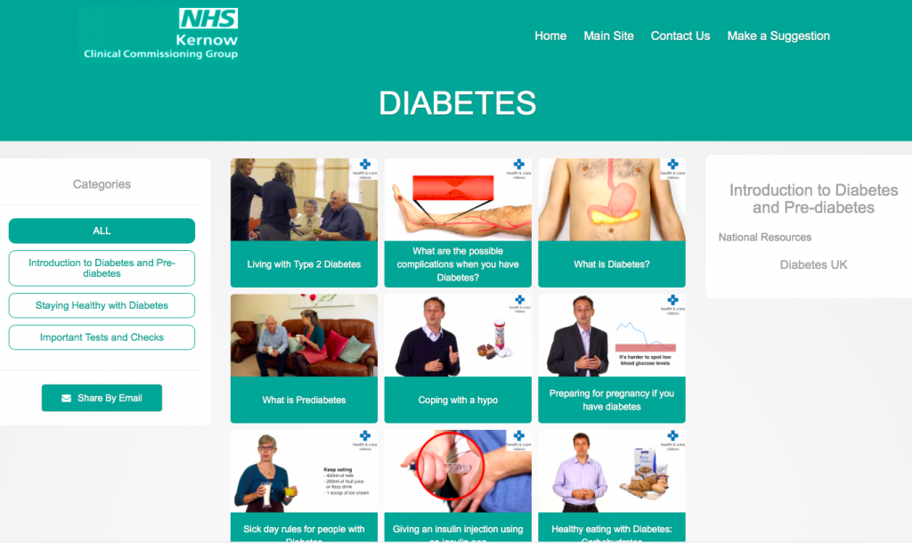 NHS Kernow Diabetes Library